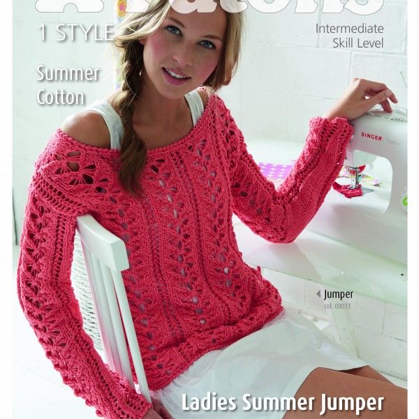 Patons Ladies Summer Jumper (4081) – Lady Sew & Sew Knits