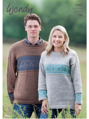 5947 fairisle sweater pattern front
