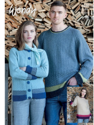 5990 sweater & cardigan pattern front