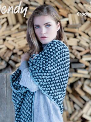 5991 shawl pattern front