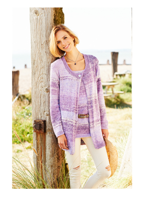 9241 Sundae cardigan & vest pattern front