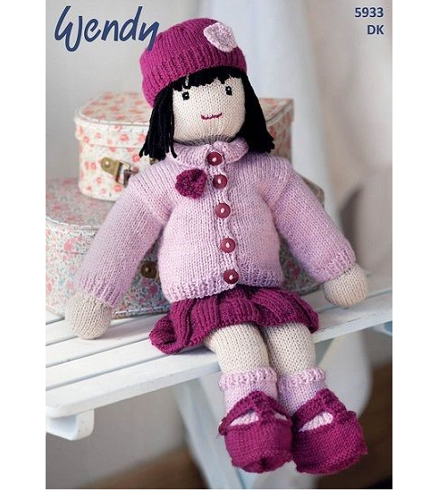 5933 doll pattern front