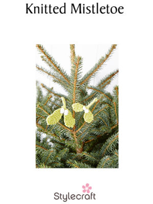 Knitted Mistletoe pattern image