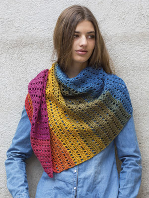 Katia Paint free pattern scarf