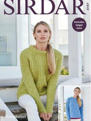 Sirdar 8197 Ladies Sweater