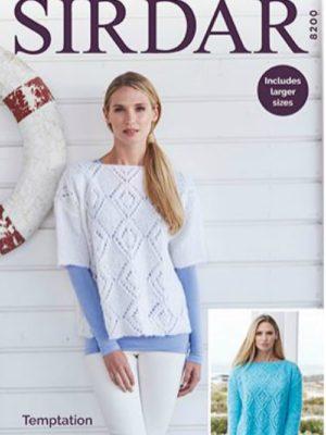 Sirdar 8200 Ladies Sweater