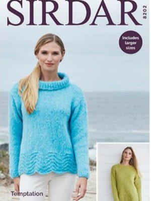 Sirdar 8202 Ladies Sweater