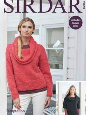 Sirdar 8203 Ladies Sweater