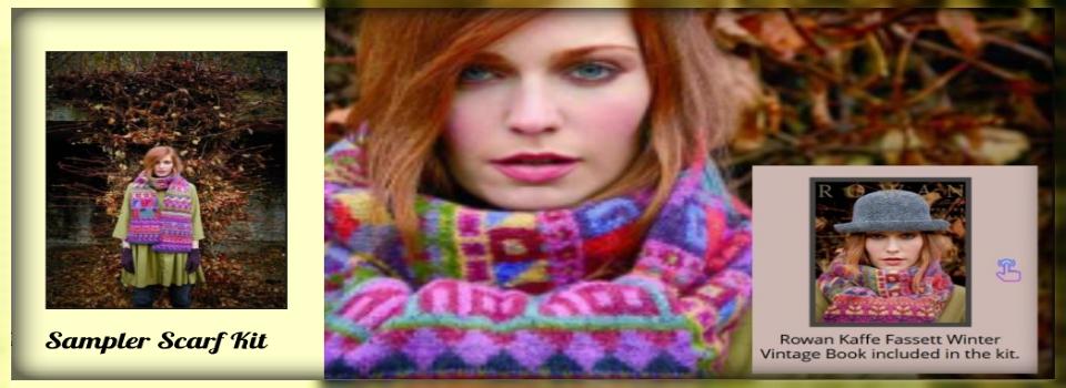 sampler scarf kit Kaffe Fassett